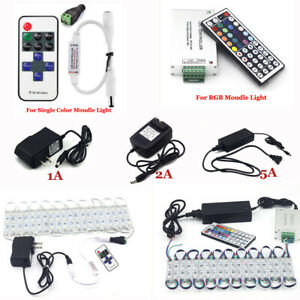Adapter 1 2 3 5 8A Power Supply Remote Accessories For 5050 Module Light LED USA