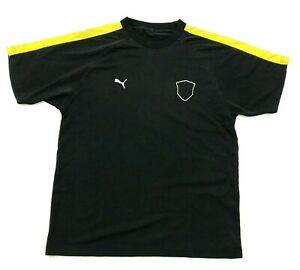 PUMA Soccer Jersey Dry Fit Shirt Mens Size Medium M Black Short Sleeve Tee 10 $18.77