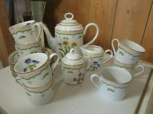 Georges Briard Victorian Garden Tea set tea pot sugar creamer tea cups $79.99