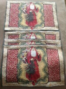 4 piece Table Placemat Set Holiday Set