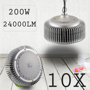 10X LED High Bay Light 200W Warehouse Industrial Shop Lamp Fixtures Chain Mount