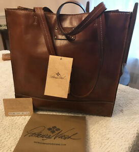 NWT PATRICIA NASH Italian Leather Toscano Tote Shoulder Bag $199