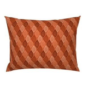 Leaf Leaves Autumn Henna Warm Warm Colors Warm Colours Pillow Sham by Roostery