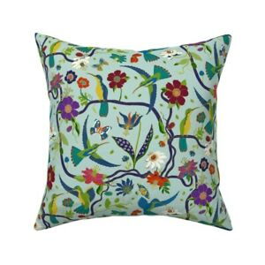 Rainforest Spirit Animal Throw Pillow Cover w Optional Insert by Roostery