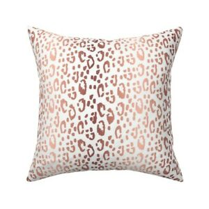 Cheetah Leopard Animal Animal Throw Pillow Cover w Optional Insert by Roostery