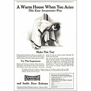 1925 Chamberlin Metal Weather Strips: A Warm House Vintage Print Ad $6.50
