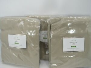 New Pottery Barn Outdoor Grommet Drapes 50quot; x 96quot; Stone Set of 3