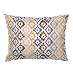 Southwest Geometric Boho Baby Girl Tribal Desert Pink Pillow Sham by Roostery $44.00