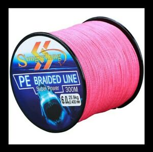 Fishing Line Braided 4X Super Power PE Great Abrasion Resistance 300Mts 43 lb.