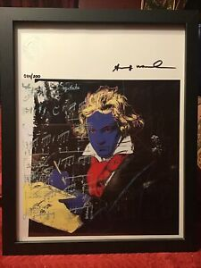 Andy Warhol 1987 Original Lithograph Hand Signed with COA New Frame $284.49