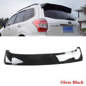Fit Fo SUBARU Forester 2014 2018 Black Rear Tailgate Roof Top Spoiler ABS Wing $68.67