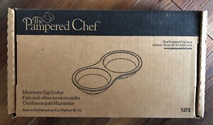 Pampered Chef Stoneware Microwave Egg Cooker Item #1372 NIB