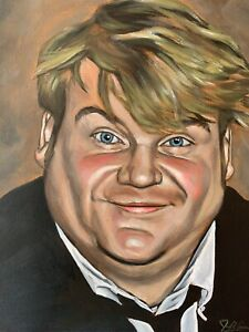 Chris Farley Portrait Artwork Original Painting One Of A Kind Sold By Artist $100.00