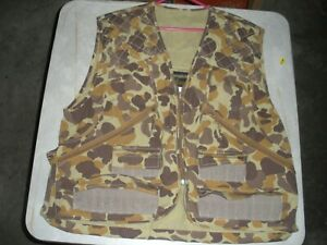 XL Gamehyde UPLAND GAME HUNTING VEST GAME POUCH SHELL PKTS ZIPPERED PKTS