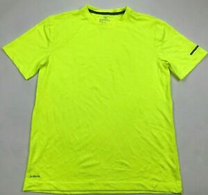 Athletic Works Dry Fit Shirt Mens Size Small Safety Reflective Runners Tee Neon $13.14