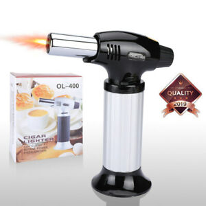 COOKING TORCH Refillable Kitchen Butane Culinary Burner Creme Brulee Flame BBQ