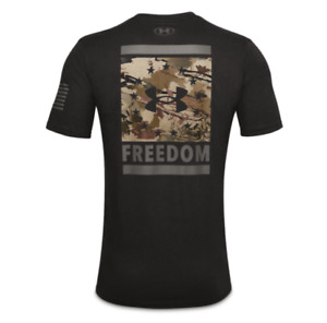 Mens Under Armour Freedom Back Lockup Shirt. Black Graphite $19.95