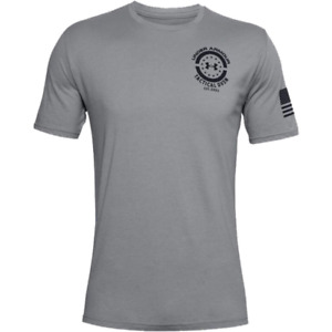 Mens Under Armour Freedom Tactical Division T Shirt. Steel Black $19.95