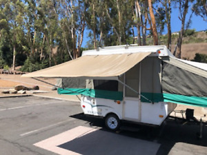 9ft Awning Beige Pop Up Tent Trailer Camping Trailer RV. by EZ Lite Campers®