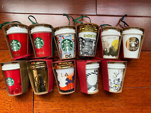 NEW Starbucks Holiday Christmas Ornament YOU PICK City Collection HtF Sold Out $9.99