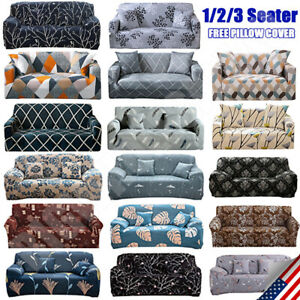 Printed Slipcover Sofa Covers Spandex Stretch Couch Cover Furniture Protector $25.50
