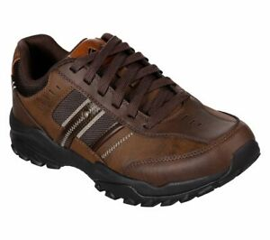 Skechers Brown Extra Wide Fit shoes Men Memory Foam Sporty Casual Comfort 66015
