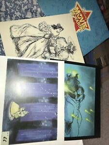 Disney Movie Rewards Lithographs Beauty And The Beast 3 Concept Art Prints $18.95