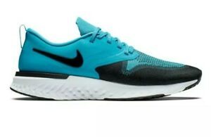 Nike Odyssey React 2 Flyknit Blue Size 11 Mens Running Training Sneakers Shoes $54.99