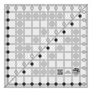 Creative Grids Square Quilting Ruler Template CGR10 10.5quot; $16.99