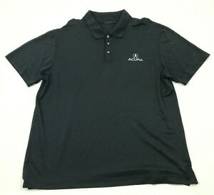 Acura Car Polo Dry Fit Shirt Size Extra Large XL Black Short Sleeve Tee Adult $23.02