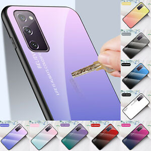 For Samsung Galaxy S20 FE Luxury Gradient Tempered Glass Shockproof Case Cover