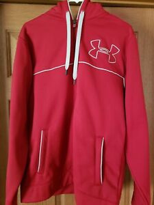 MENS LARGE RED UNDER ARMOUR.. HOODIE...RED.MUST. LOOK $22.99