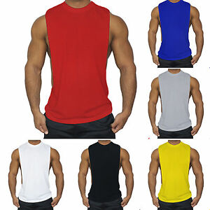 Men Sleeveless Muscle Vest Tank Top Solid Fitness Workout Sports Gym Shirts Tee $8.83
