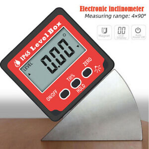 Digital Level Box Protractor Angle Finder Level Gauge Bevel Gauge Inclinometer $12.34