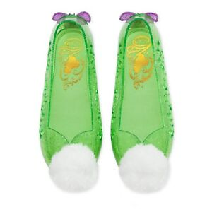 New DISNEY STORE Tinker Bell costume Shoes 9 10 Girls