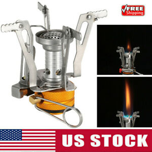 Portable Camping Stoves Backpacking Stove with Piezo Ignition Adjustable V alve