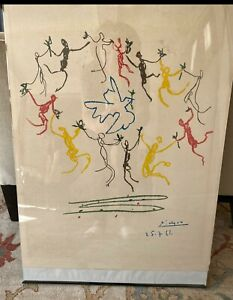 quot;DANCE OF YOUTHquot; Vintage Lithograph Picasso Art Painting $91.00