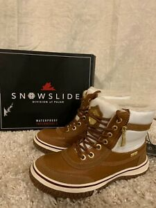 New Pajar Snowslide Georgia Waterproof Leather Nylon Snow Women#x27;s Boots Size#8