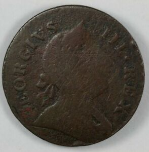 1771 Machin#x27;s Mills Colonial Copper Halfpenny 1 2P Vlack 2 71A R.4 $175.00