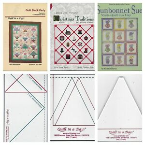Quilt In A Day Block Party Christmas Traditions Geese Rulers Sunbonnet Sue Books $22.00