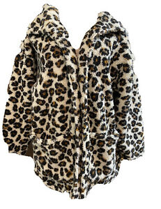 South Moon Under Women's Leopard Jacket Coat Size Large $49.99