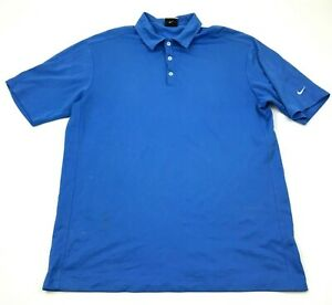 Nike Golf Polo Dry Fit Shirt Mens Size Extra Large XL Baby Blue Short Sleeve $18.77