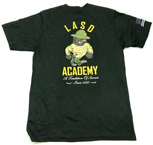 LASD Police Academy Dry Fit Shirt Size Medium M Black Short Sleeve Graphic Tee $15.02