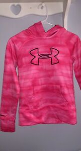 UNDER ARMOUR * Pink STORM HOODIE SWEATSHIRT * GIRLS YOUTH SIZE S M $10.00