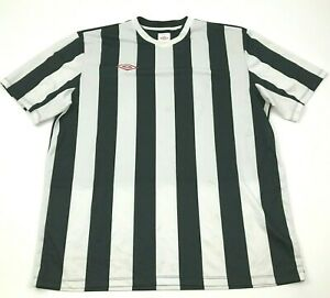 Umbro Dry Fit Shirt Soccer Jersey Size Extra Large XL Black White Short Sleeve $18.77