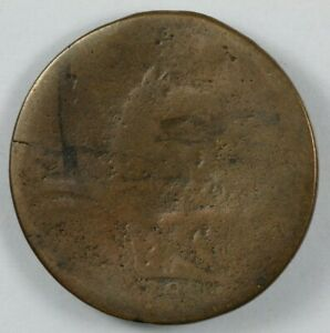 1788 New Jersey Colonial Copper Coin Maris 67 v $60.00