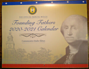 Founding Fathers 2021 Commemorative WALL CALENDAR from Judicial Watch $13.25