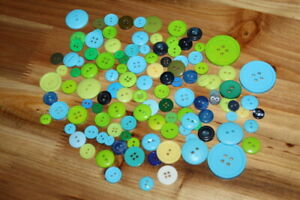 LOT Random Plastic Buttons NEW Crafting Scrapbooking Sewing Kids Craft Supplies $7.59