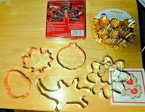 Lot of Cookie Cutters Ann Clark Holidays Wilton Snowflakes Fall Designs Lizard $9.00