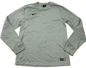 Nike Goalie Soccer Jersey Size Small Gray Dry Fit Shirt Long Sleeve Dri FIT Pads $23.02